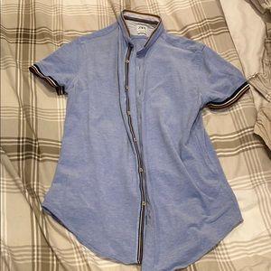 Zara Men: Slim Fit Short Sleeve Button Down